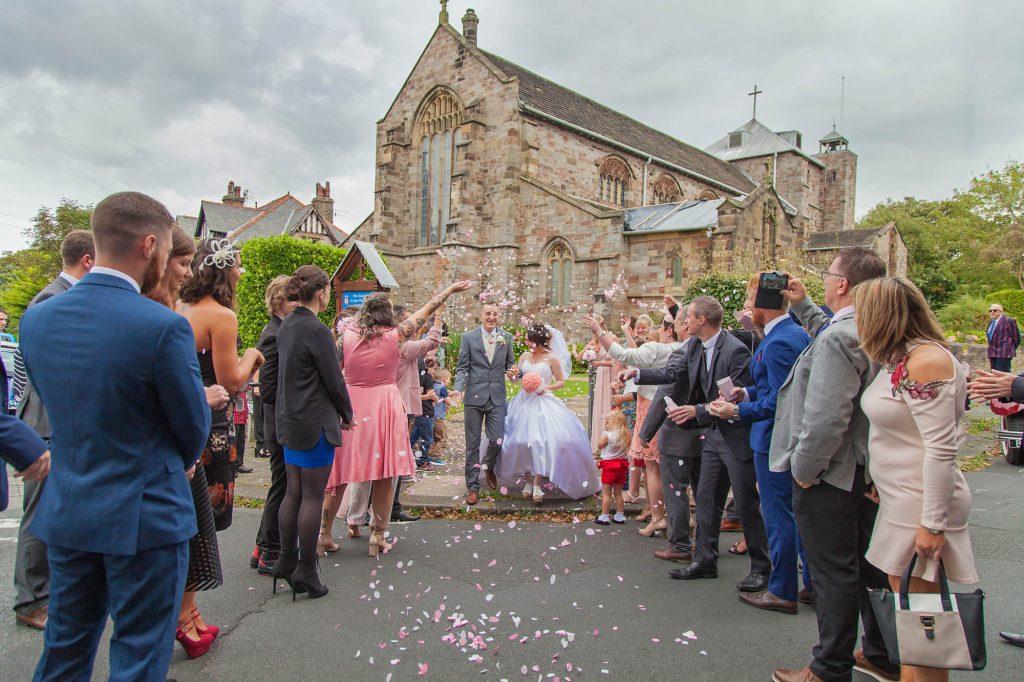 Confetti Throw Wedding Church