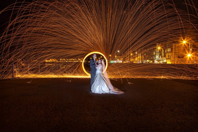 Wire Wool fun on Morecambe Prom