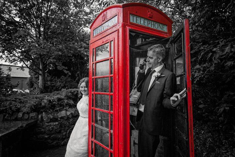 Phone box fun at Gretna Green